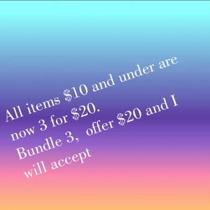 Other - 3 items PRICED $10 AND UNDER for $20!!